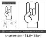 rock and roll hand vector line... | Shutterstock .eps vector #513946804