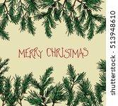 vector christmas greeting card. ... | Shutterstock .eps vector #513948610