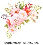 Stock photo flower bohemian bouquet decorative composition for wedding invitation and save the date card 513952726
