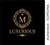 luxury logo template in vector... | Shutterstock .eps vector #513952966