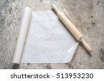 parchment for baking culinary | Shutterstock . vector #513953230