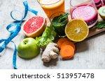 detox juice | Shutterstock . vector #513957478