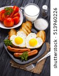 breakfast on valentine's day  ... | Shutterstock . vector #513960226