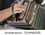 Man Playing The Bandoneon ...