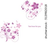 Abstract Flowers Background...