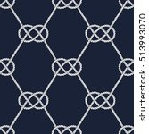 seamless nautical rope pattern. ... | Shutterstock .eps vector #513993070
