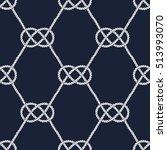 seamless nautical rope pattern. ... | Shutterstock .eps vector #513993070