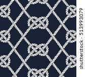 seamless nautical rope pattern. ... | Shutterstock .eps vector #513993079