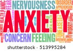 anxiety word cloud on a white...   Shutterstock .eps vector #513995284
