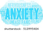 anxiety word cloud on a white... | Shutterstock .eps vector #513995404