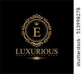 luxury logo template in vector... | Shutterstock .eps vector #513998278