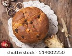panettone. tradidional italian... | Shutterstock . vector #514002250