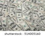 american dollars pile as...