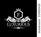 luxury logo template in vector...   Shutterstock .eps vector #514005418