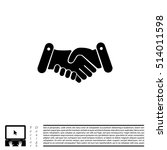 handshake icon  | Shutterstock .eps vector #514011598