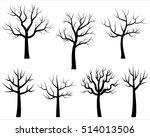 vector bare tree silhouettes ...   Shutterstock .eps vector #514013506