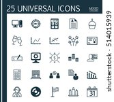 set of 25 universal editable... | Shutterstock .eps vector #514015939