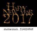 happy new year 2017 written... | Shutterstock . vector #514024969