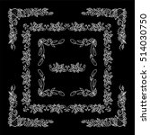 set of square frames  corners...   Shutterstock .eps vector #514030750