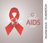 red ribbon aids awareness.... | Shutterstock .eps vector #514040524