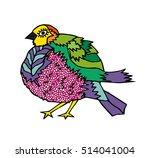 kids stylized bird. abstract... | Shutterstock .eps vector #514041004