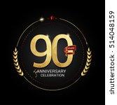 90 years golden anniversary... | Shutterstock .eps vector #514048159