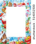 background for christmas card  | Shutterstock .eps vector #514052500