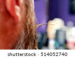 client at the hair salon making ... | Shutterstock . vector #514052740
