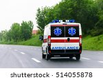 Small photo of Ambulance van on highway