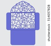 lasercut vector wedding... | Shutterstock .eps vector #514057828