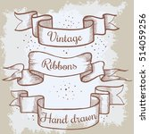 old hand drawn banner to... | Shutterstock .eps vector #514059256