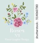 vector pink roses.  flowers for ... | Shutterstock .eps vector #514060780