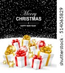 merry christmas and happy new... | Shutterstock .eps vector #514065829