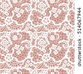 white lace seamless pattern...   Shutterstock .eps vector #514067944