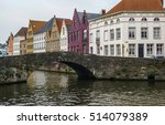 scenic cityscape at brugge in... | Shutterstock . vector #514079389