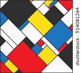 colorful background in mondrian ... | Shutterstock .eps vector #514081264