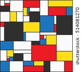 colorful background in mondrian ... | Shutterstock .eps vector #514081270