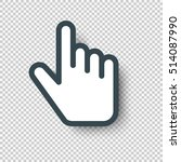 isolated pointer hand cursor... | Shutterstock .eps vector #514087990