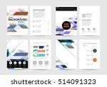 geometric background template... | Shutterstock .eps vector #514091323
