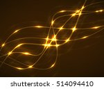 abstract glowing wavy lines ... | Shutterstock .eps vector #514094410