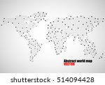 abstract world map of dots.... | Shutterstock .eps vector #514094428