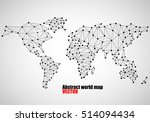abstract world map of dots and...