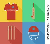 west indies cricket icons in... | Shutterstock .eps vector #514095679
