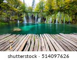 waterfalls of plitvice national ...   Shutterstock . vector #514097626