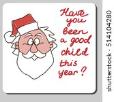 vector christmas card design... | Shutterstock .eps vector #514104280