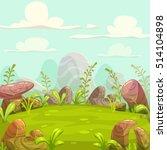 cartoon nature landscape.... | Shutterstock .eps vector #514104898