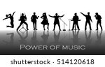 power of music concept. set of...