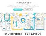 vector elegant thin flat line... | Shutterstock .eps vector #514124509