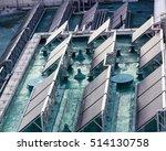 solar water heater on roof | Shutterstock . vector #514130758