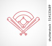 baseball field emblem red line... | Shutterstock .eps vector #514133689